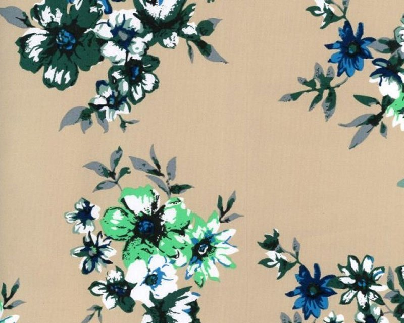 Flower Stretch Sateen