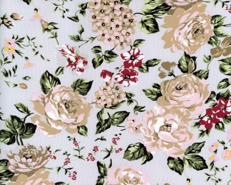 Roses Stretch Sateen