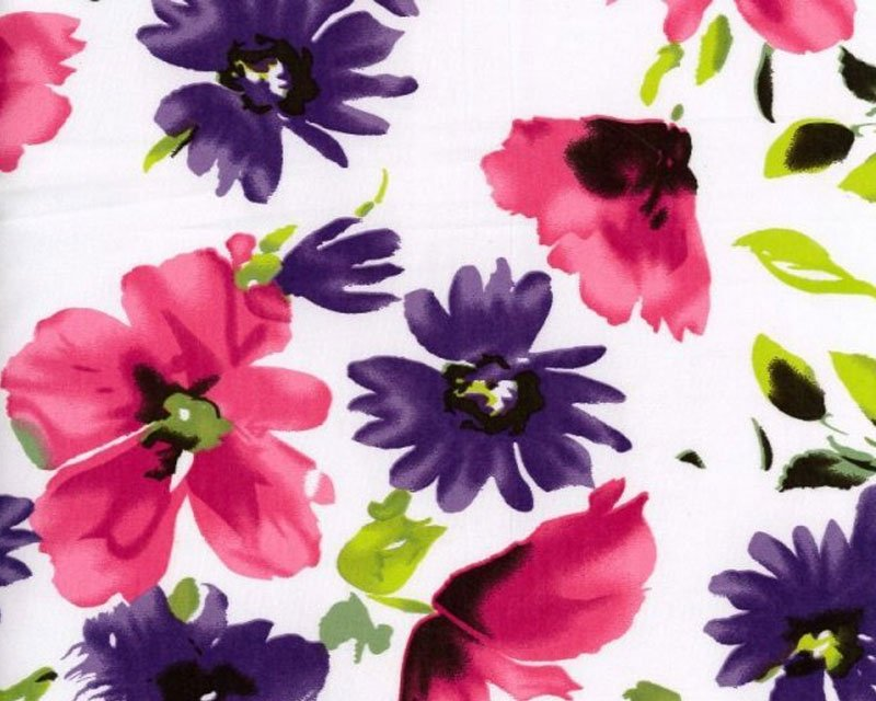 Floral Stretch Sateen