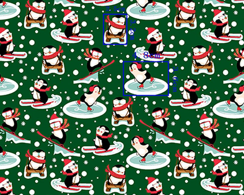 Skating Penguin Polycotton