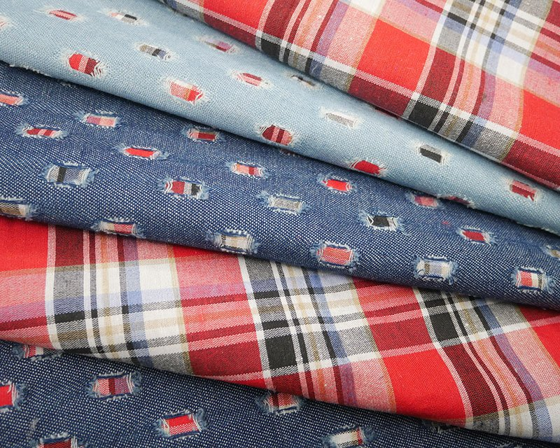 Reversible Check Denim