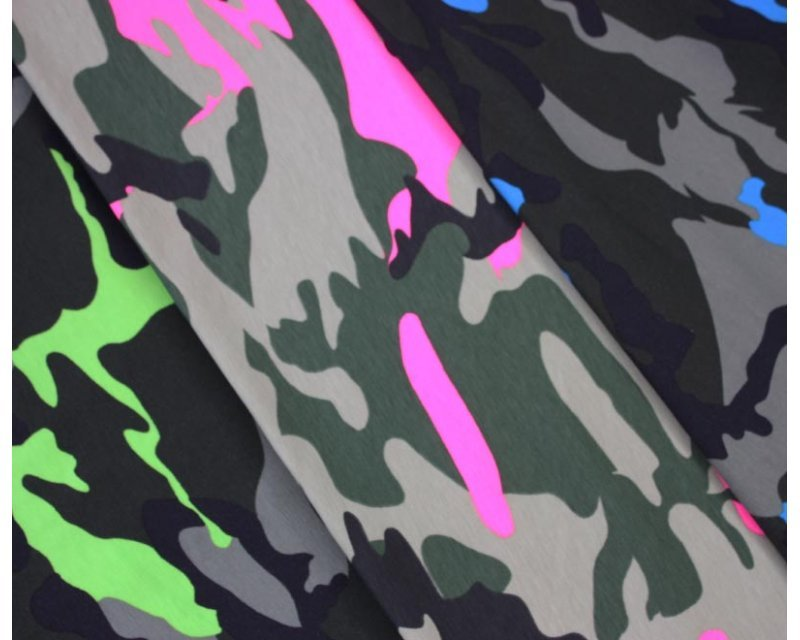 Camouflage Fluorescent Cotton Jersey