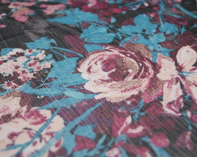 Floral Crinkle Chiffon