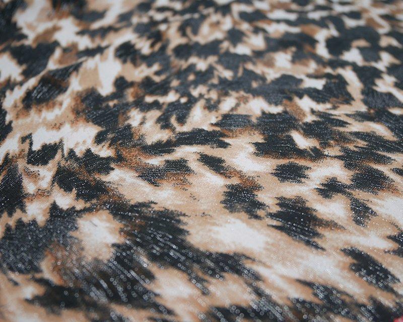 Foil Leopard Jersey