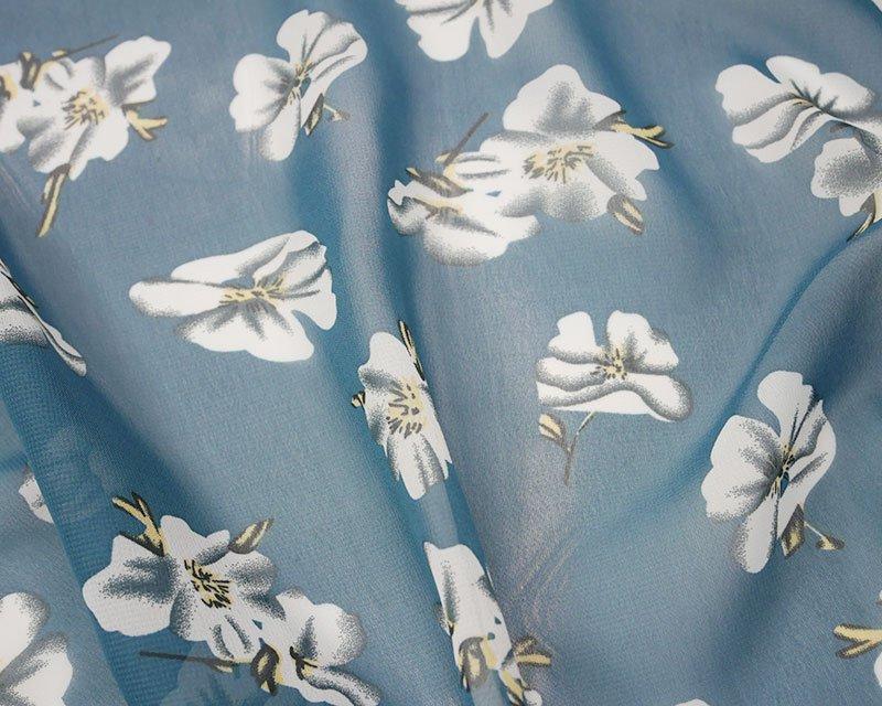 White Flower Chiffon