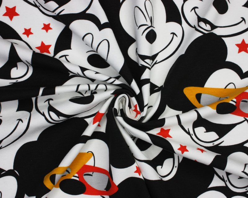 Disney Mickey Mouse Stars Cotton Jersey