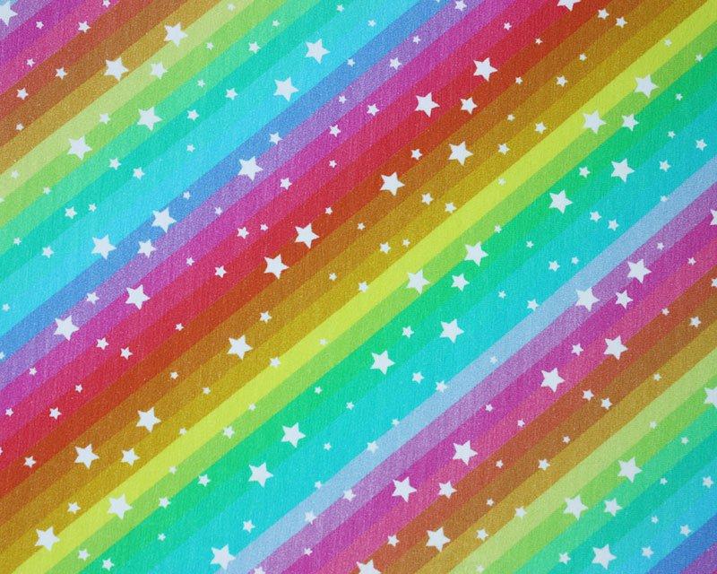 Little Johnny - Rainbow Stars Cotton Jersey
