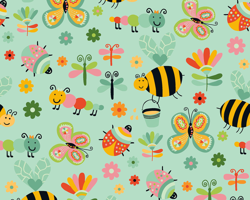 Garden Bugs Cotton Poplin