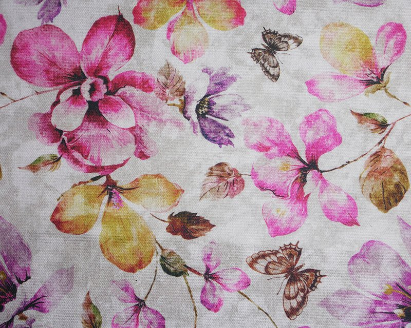 Butterfly Flower Cotton Canvas