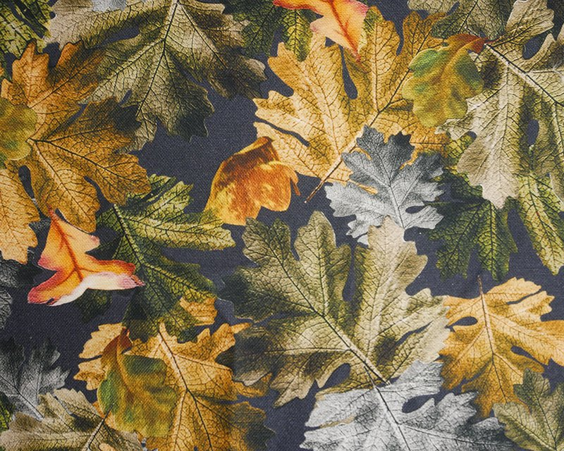 Winter Leaves Cotton Canvas