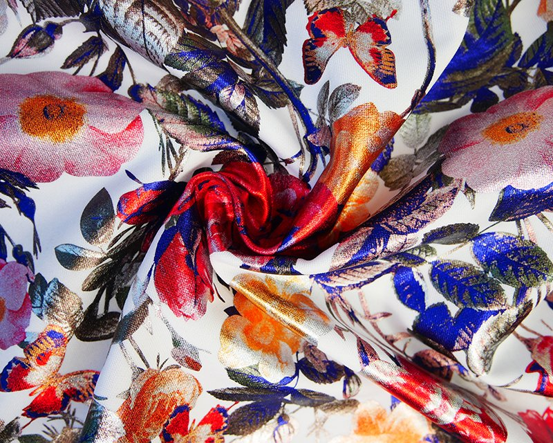 Foil Flowers Scuba - White/Multi