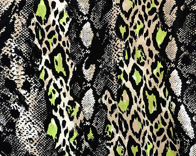 Neon Snakeskin Cotton Jersey