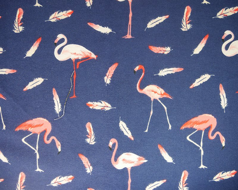 Flamingo & Feathers Winceyette