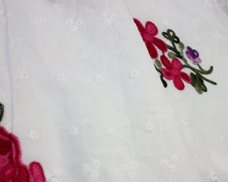 Embroidered Floral Cotton Anglaise