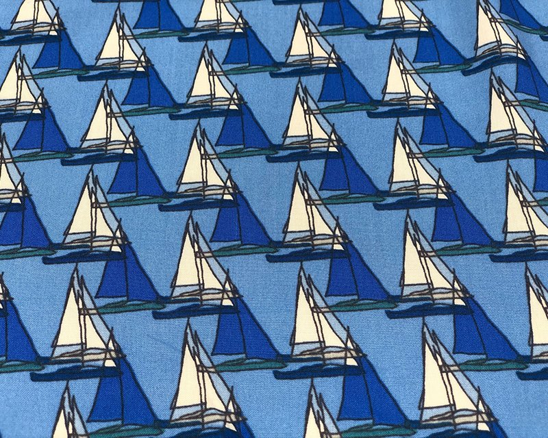 Sail Boats Viscose