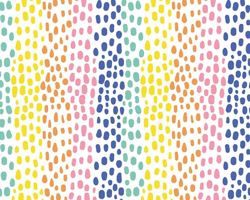 Little Johnny -  Rainbow Spots Digital Cotton
