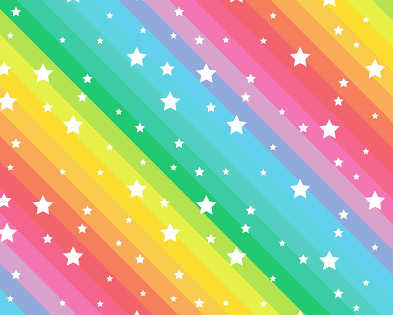 Little Johnny - Rainbow Stars. Digital Cotton