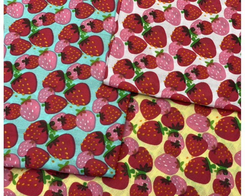 MP Strawberries Polycotton