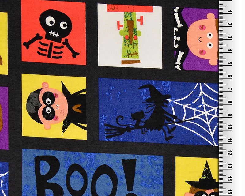 Boo Halloween Squares Cotton