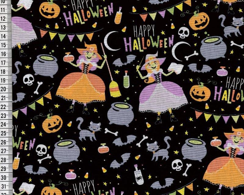 Happy Halloween Cotton Poplin