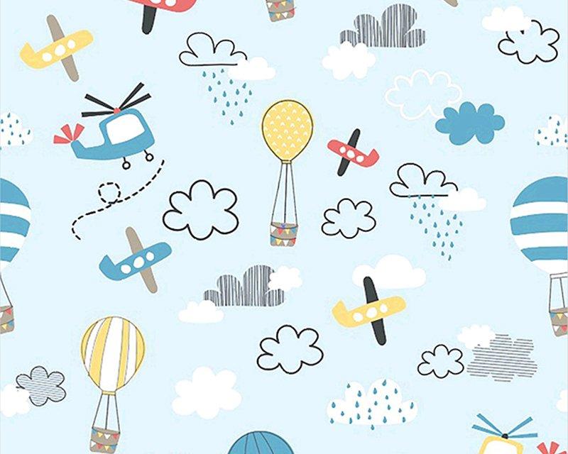 Planes & Hot Balloons Cotton Poplin
