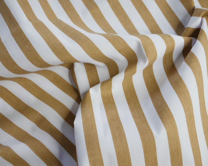 Sally Polycotton Medium Stripe