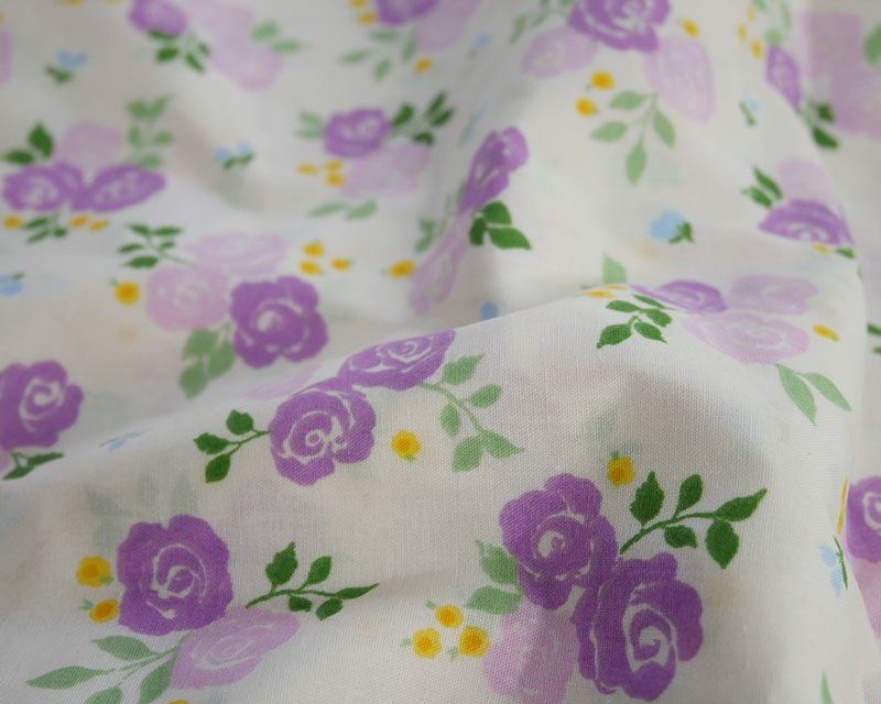 Sally Polycotton Triple Rose