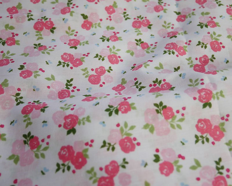 Sally Polycotton Small Triple Rose