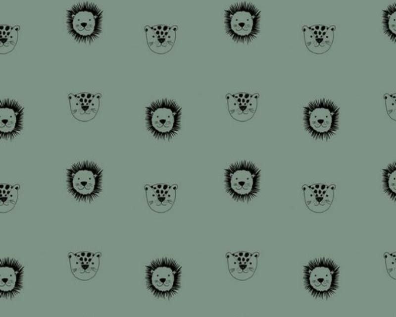 Organic Lions and Leopard Cotton Poplin