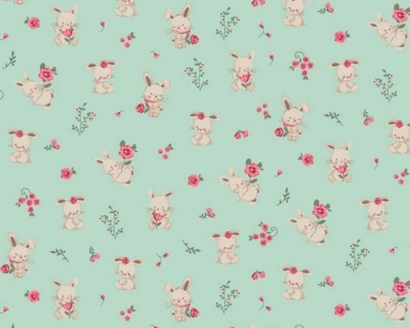 Organic Sweet Bunny Organic Cotton Poplin