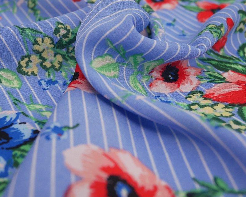 Floral Stripe Georgette