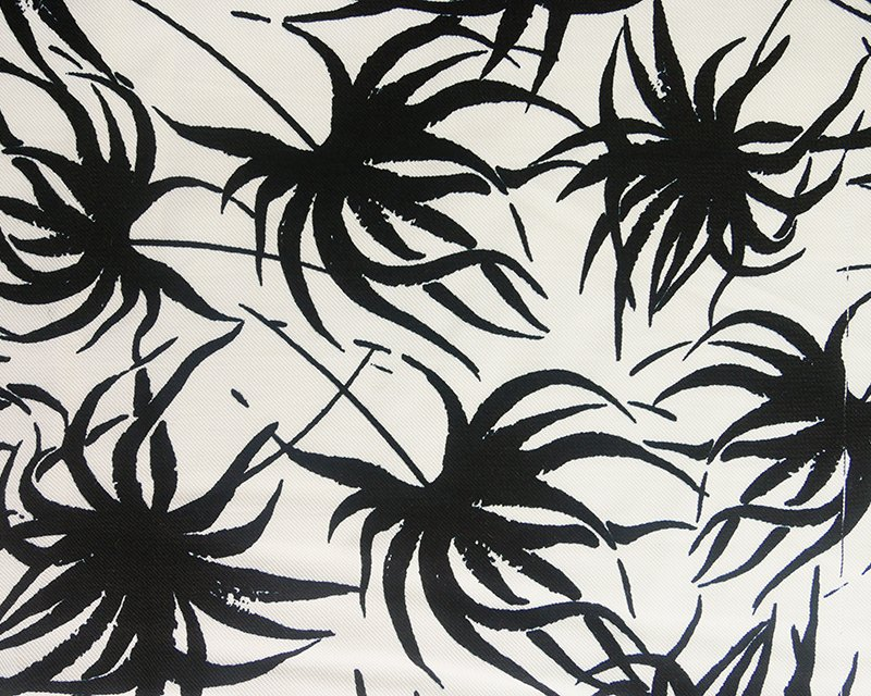 Palm Leaves Viscose Twill