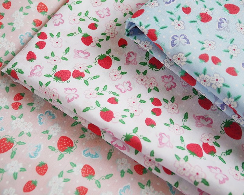 Sally Polycotton Strawberry Lane