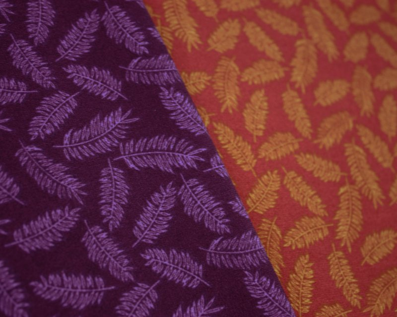 Fern Leaves Stretch Crepe