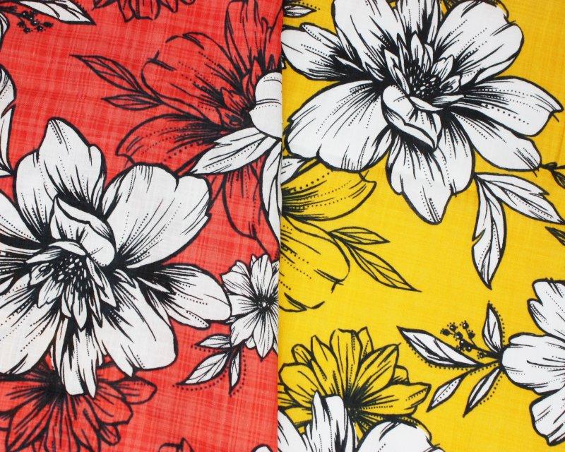 Floral Linen Look