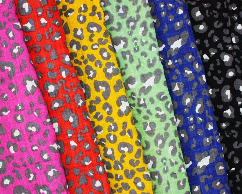 Leopard Linen Look