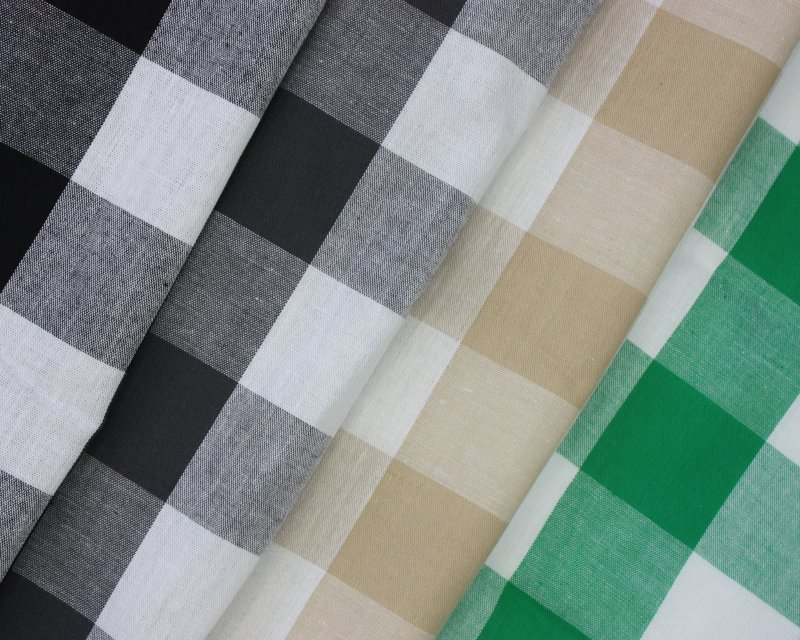 Large Gingham Check Cotton