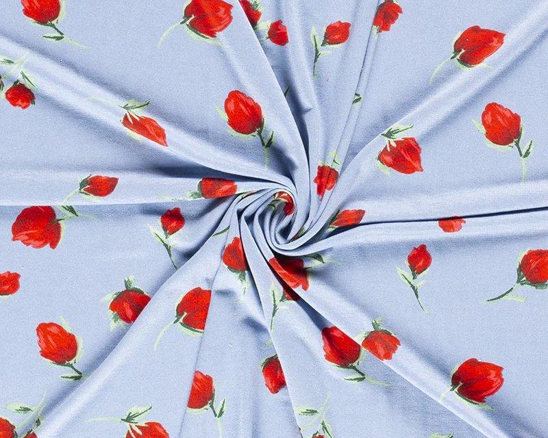Rose Floral Viscose Jersey