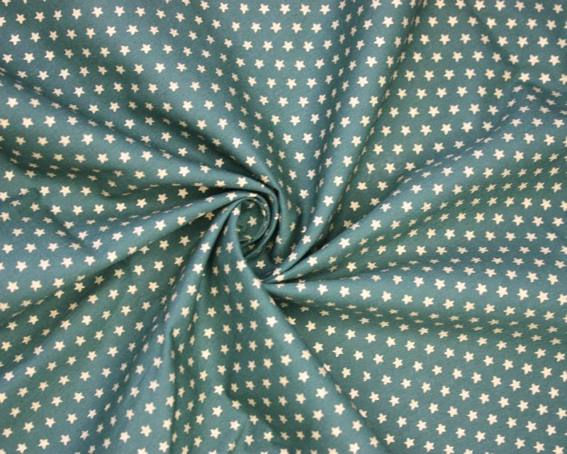 Xmas Mini Stars Metallic Cotton Poplin