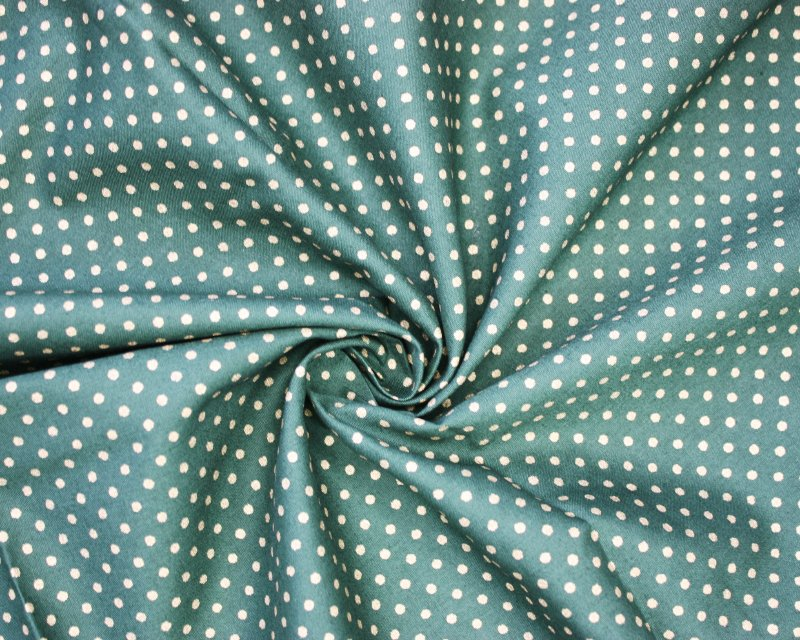 Xmas Metallic Spotty Cotton Poplin