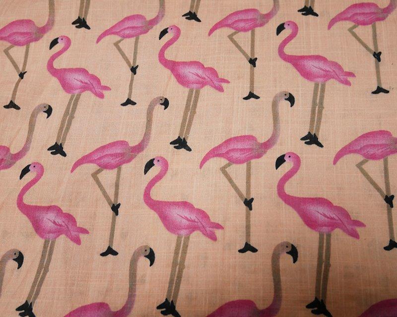 Flamingo Cotton Gauze