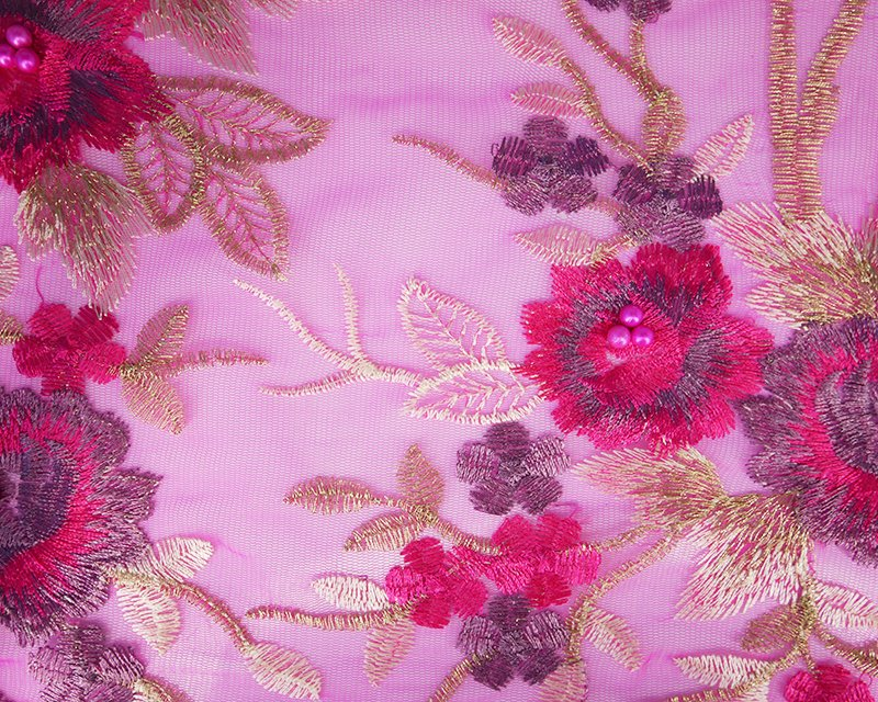 Embroided Couture Beaded Lace