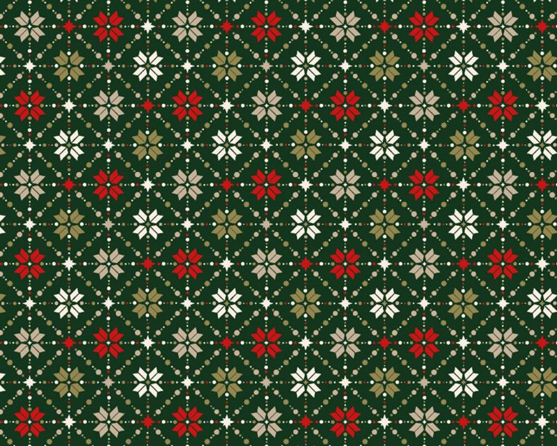 Christmas Snowflake Metallic Fair Isle Cotton