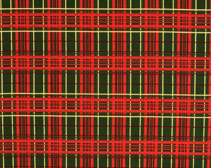 Festive Metallic Tartan Cotton