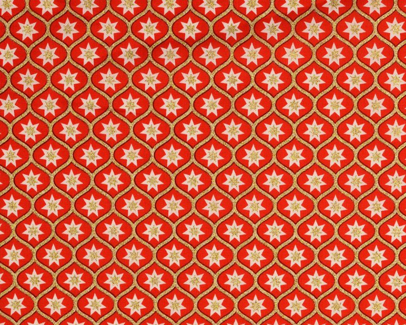 Retro Christmas Glitter Geometric Star Cotton