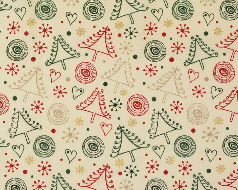 Swirly Metallic Christmas Cotton
