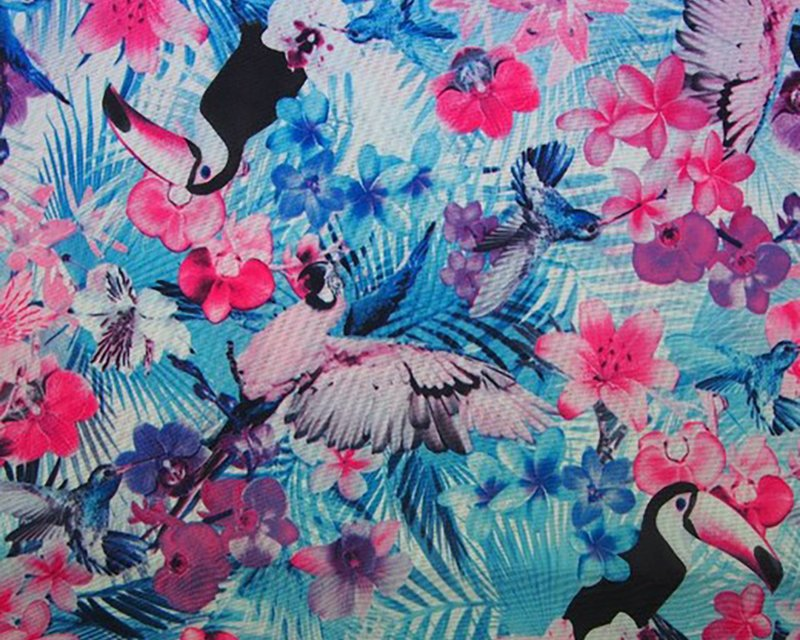 Exotic Digital Print Bi Stretch
