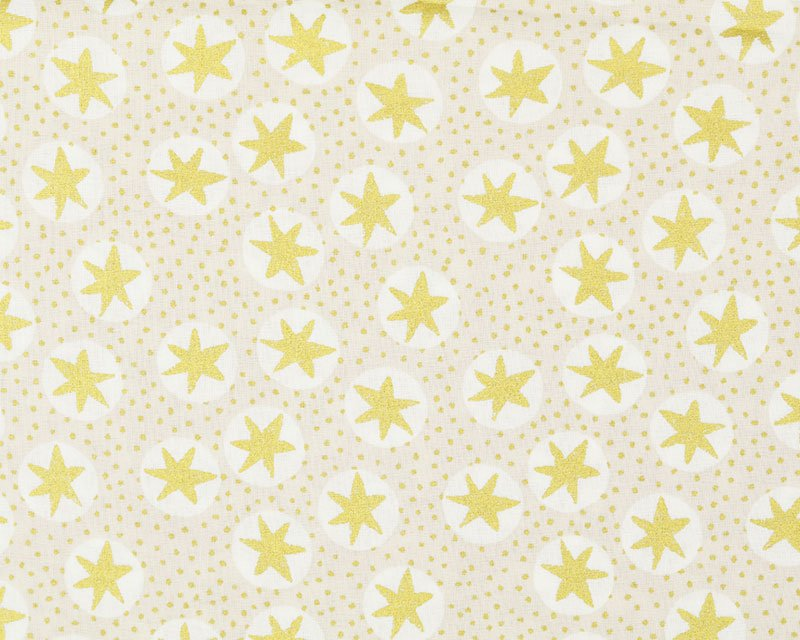 Christmas Golden Stars Cotton