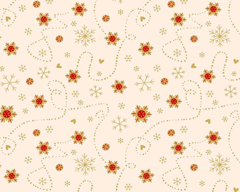 Christmas Snowflake Heart Cotton