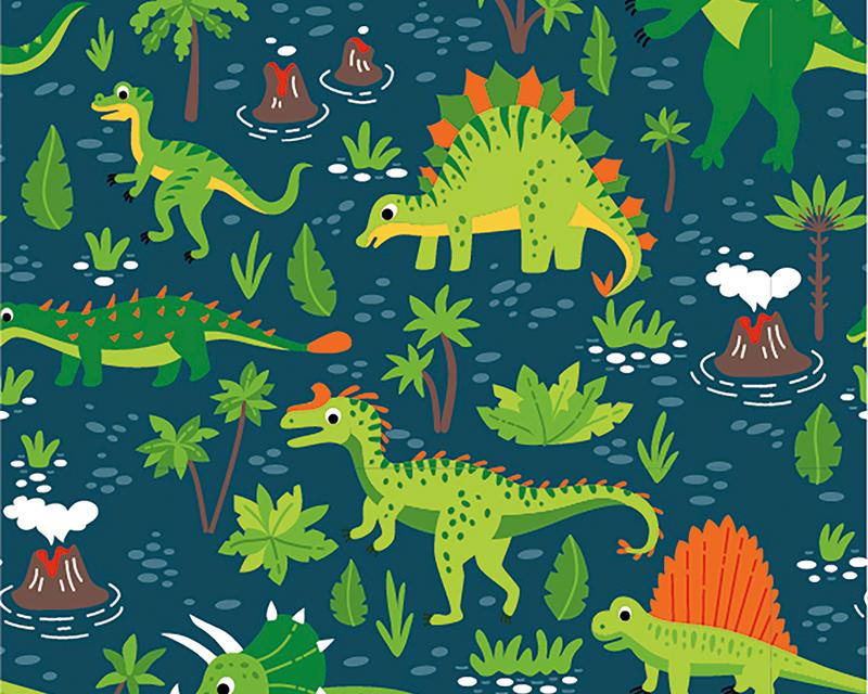 Dinosaur Cotton Jersey